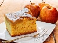 Рецепта Еврейски ябълков сладкиш с портокалов сок и ванилия